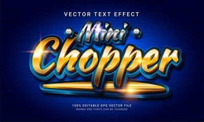 Poster Mini chopper 3d editable text style effect