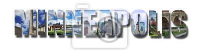 Minneapolis banner collage on white