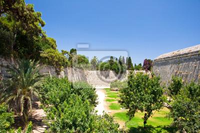 Mittelalterliche Burg in der Altstadt von Rhodos, Griechenland.