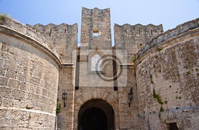 Mittelalterliche Burg. Rhodos, Griechenland.