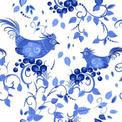 Poster Mode nahtlose Textur mit stilisierten Blumen