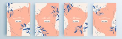 Poster Modern abstract covers set, minimal covers design. Colorful geometric background, vector illustration.