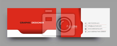 Poster Modern Business Card - Creative and Clean Business Card Template.