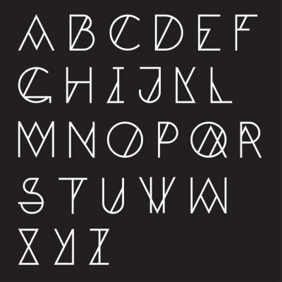 Poster Modern geometrische Alphabet