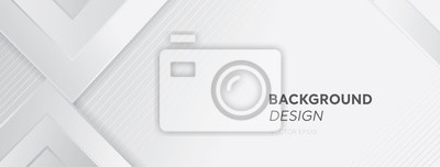 Poster Modern white gray abstract web banner background creative design
