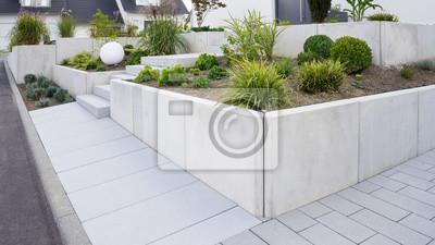 Poster Moderne Gartengestaltung