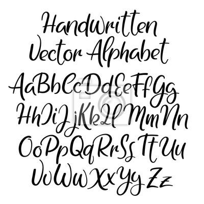 Moderne Kalligraphie Stil Alphabet Handschriftliche Schriftart