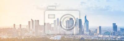 Poster Moderne Stadtlandschaft, Panorama-Hintergrund