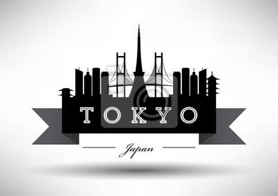 Moderne Tokyo Skyline Design