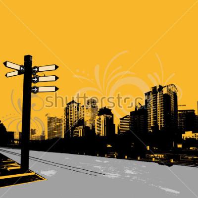 Poster modernes grunge städtisches grafikdesign