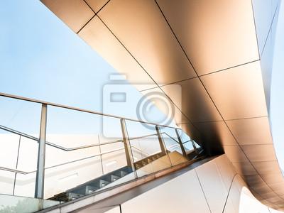 Modernes Treppenhaus Wandposter Poster Teil Handlauf Treppe