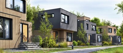 Poster Modular homes exterior designs of modern architecture