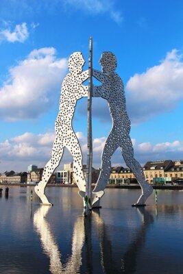 Poster Molecule Man sculpture on the Spree river in Berlin