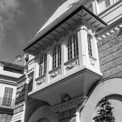 Monte Carlo, Monaco, October 13, 2019. Typical details of the urban architectural ensemble.