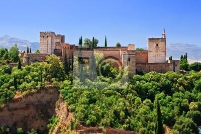 Morgen und Alhambra, Granada, Spanien