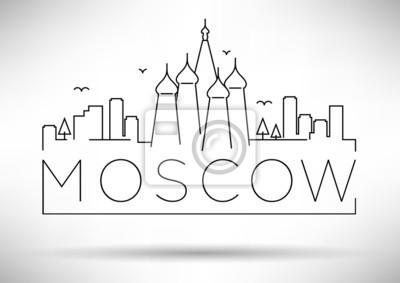 Moscow City Line Silhouette typografische Gestaltung