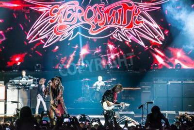 Poster Moskau, Russland - 24. Mai 2014 - Rockband Aerosmith Amerocan führt an Olimpiysky am 24. Mai 2014 in Moskau