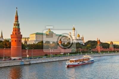 Moskauer Kreml bei Sonnenuntergang