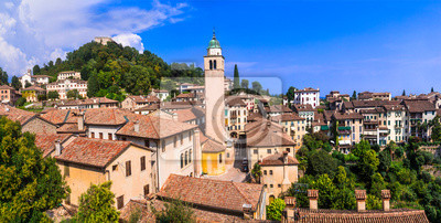Most beautiful medieval villages (borgo) of Italy - picturesque Asolo in Veneto region