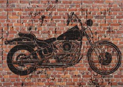 Poster Moto sportster grunge