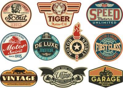 Poster Motor Unternehmen vintage Abels