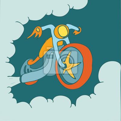 Motorrad, Motorrad-Cartoon