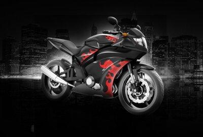 Poster Motorrad-Motorrad-Fahrrad-Reiten Reiter Zeitgenössische Konzept