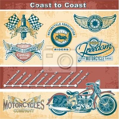 Motorrad Vintage-Elemente