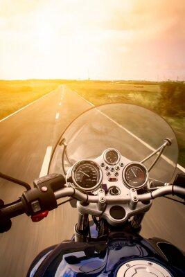 Poster Motorradfahrer Ansicht