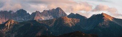 Poster Mountain peaks at sunset. Tatra Mountains in Poland.