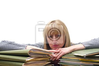 müde Frau bei der Arbeit
