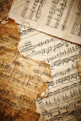Poster Music sheets