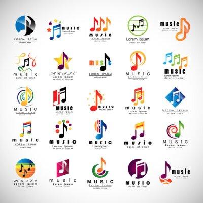 Poster Musik-Ikonen - getrennt auf grauem Hintergrund