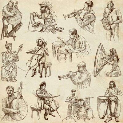 Poster Musiker und Musik rund um die Welt (nicht gesetzt. 2, Papier)