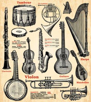 Poster Musikinstrumente