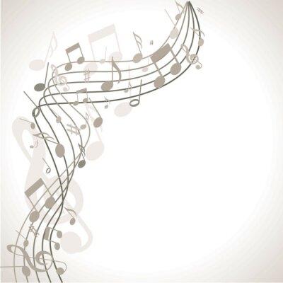 Poster musischer Hintergrund mit Noten