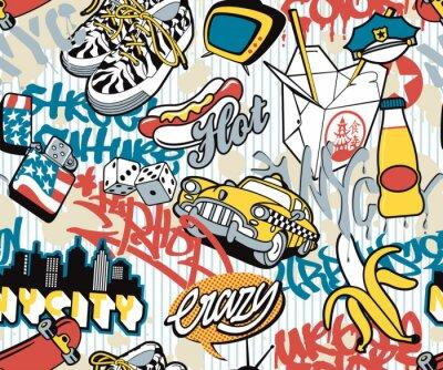 N.Y. stadt, städtisch nahtlose Collage Elemente