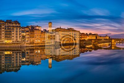 Nacht Skyline von Florenz, Italien