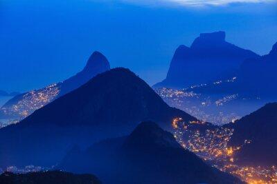 Poster Nachtansicht von Rio de Janeiro