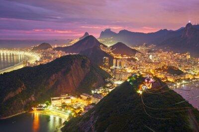 Poster Nachtansicht von Rio de Janeiro, Brasilien