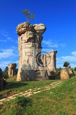Nahaufnahme von Mor Hin Khao, Thailand Stonehenge