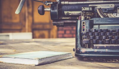 Poster Nahaufnahme von Vintage-Schreibmaschine Retro-Stil