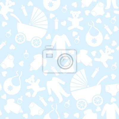 Nahtlose Hintergrund blaues Baby