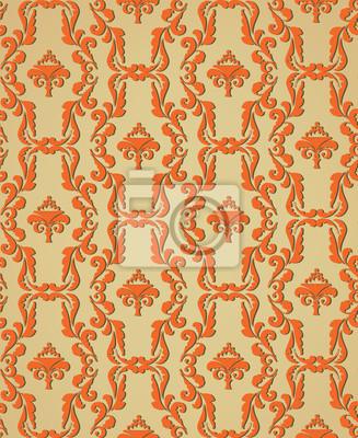 nahtlose Hintergrund der Pflanzenmotiven im Retro-Stil Tapete