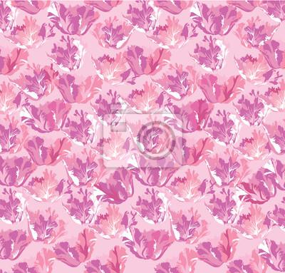 nahtlose Hintergrund der rosa Blumen, Tulpen