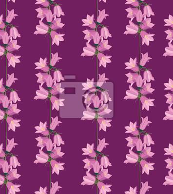 nahtlose Hintergrund von Glockenblumen, Wildblumen, drucken
