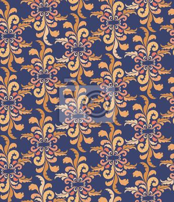 nahtlose Hintergrund von Pflanzenmotiveim orientalischen Stil Tapete