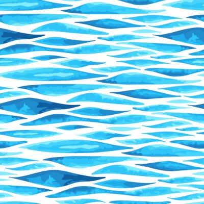 Poster Nahtlose horizontalen Meer Hintergrund
