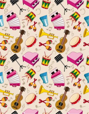 Poster nahtlose Musik Muster