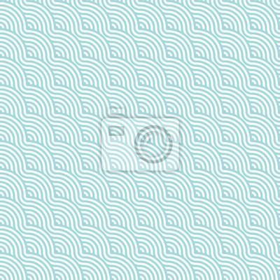 Poster Nahtlose Muster Abstrakt Wellen Turkis